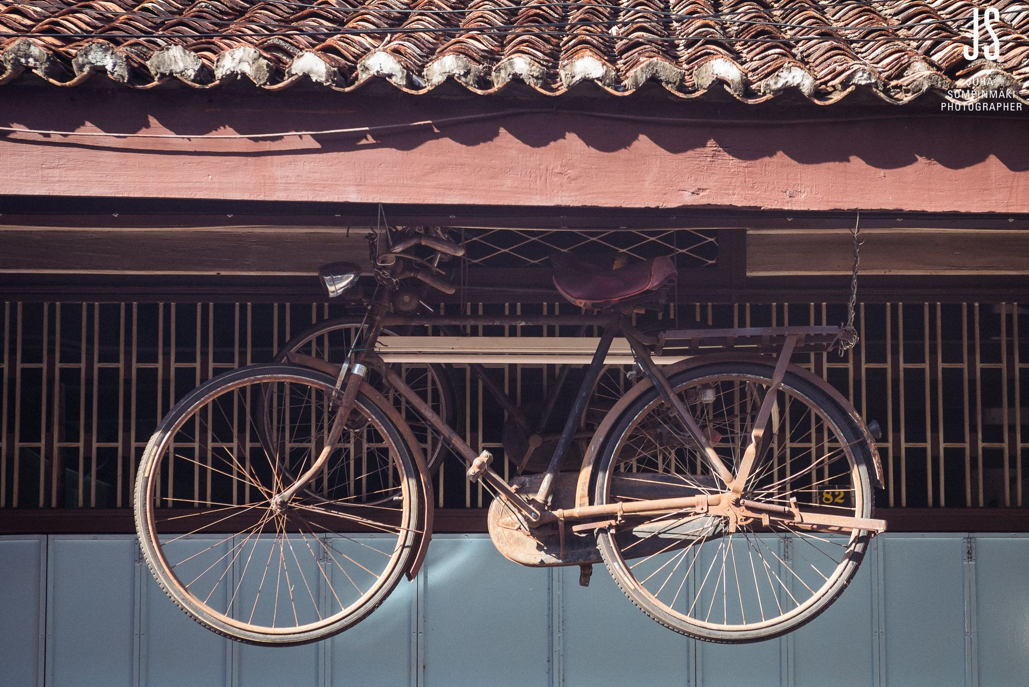 Old Style Bicycle Penang Georgetown Armenian Malaysia Travel