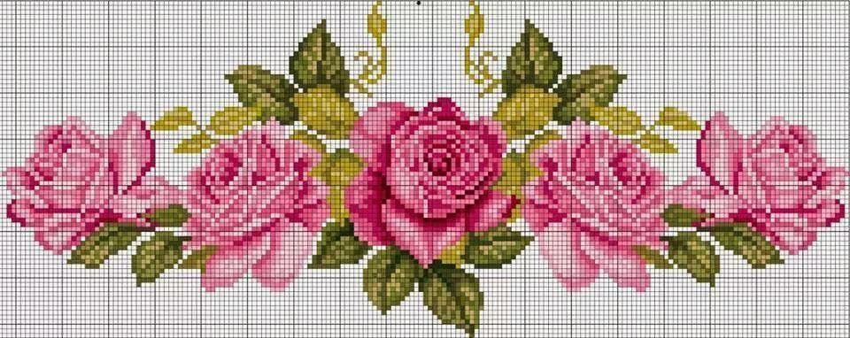 Ponto Cruz Graficos De Flores Com Imagens Amor Em Ponto Cruz