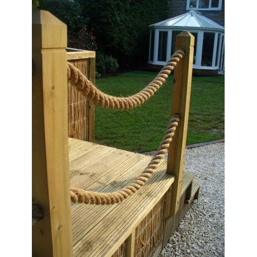 Decking rope 24mm garden pinterest garden ideas and for Garden decking with rope