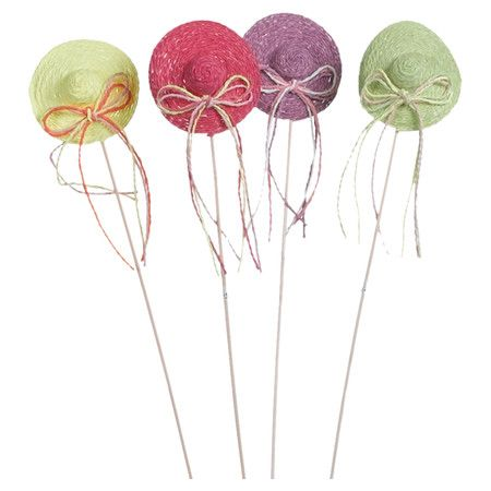 Tuck these lovely hat picks into a floral arrangement for a perfect Easter gift, or add them to the patio planters to welcome guests to your springtime potlu...
