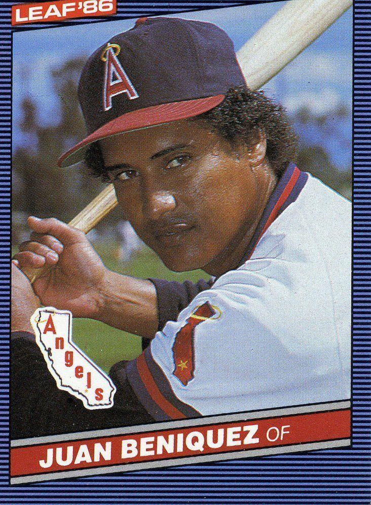 Rare 1986 Leaf Juan Beniquez Anaheim Angels Mint Anaheimangels