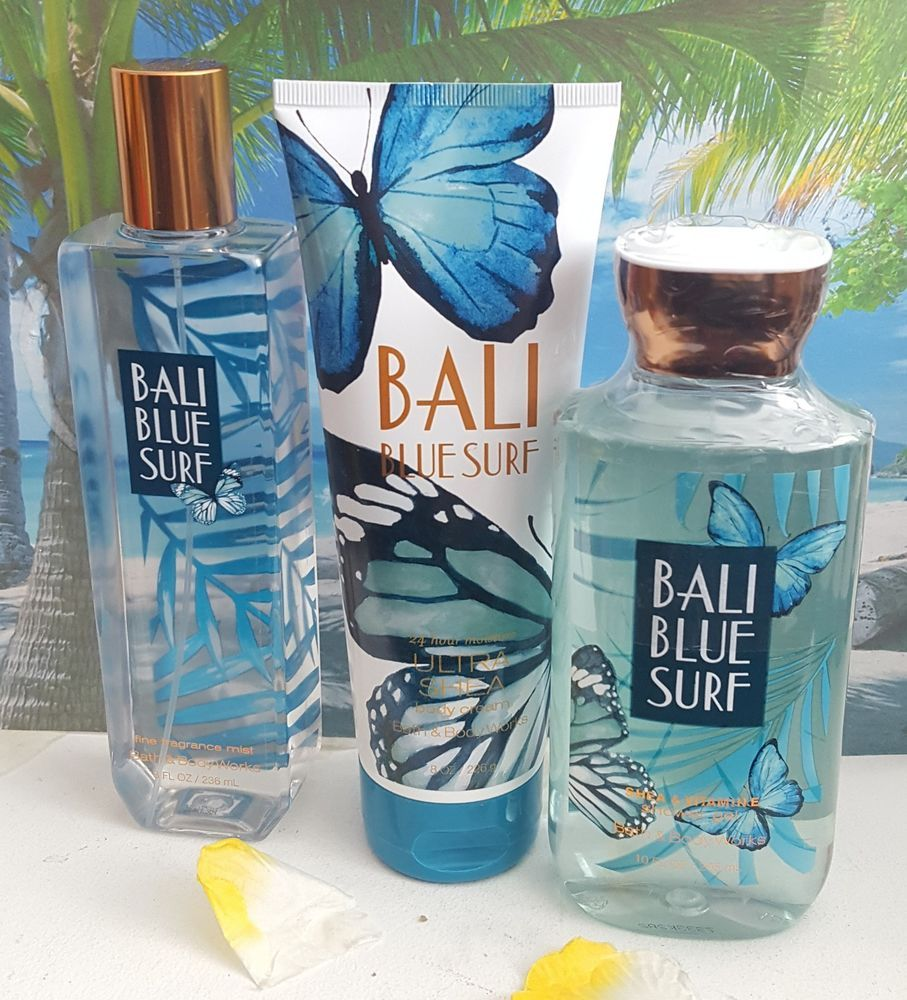 Bath And Body Works Bali Blue Surf Shower Gel Body Cream Fine