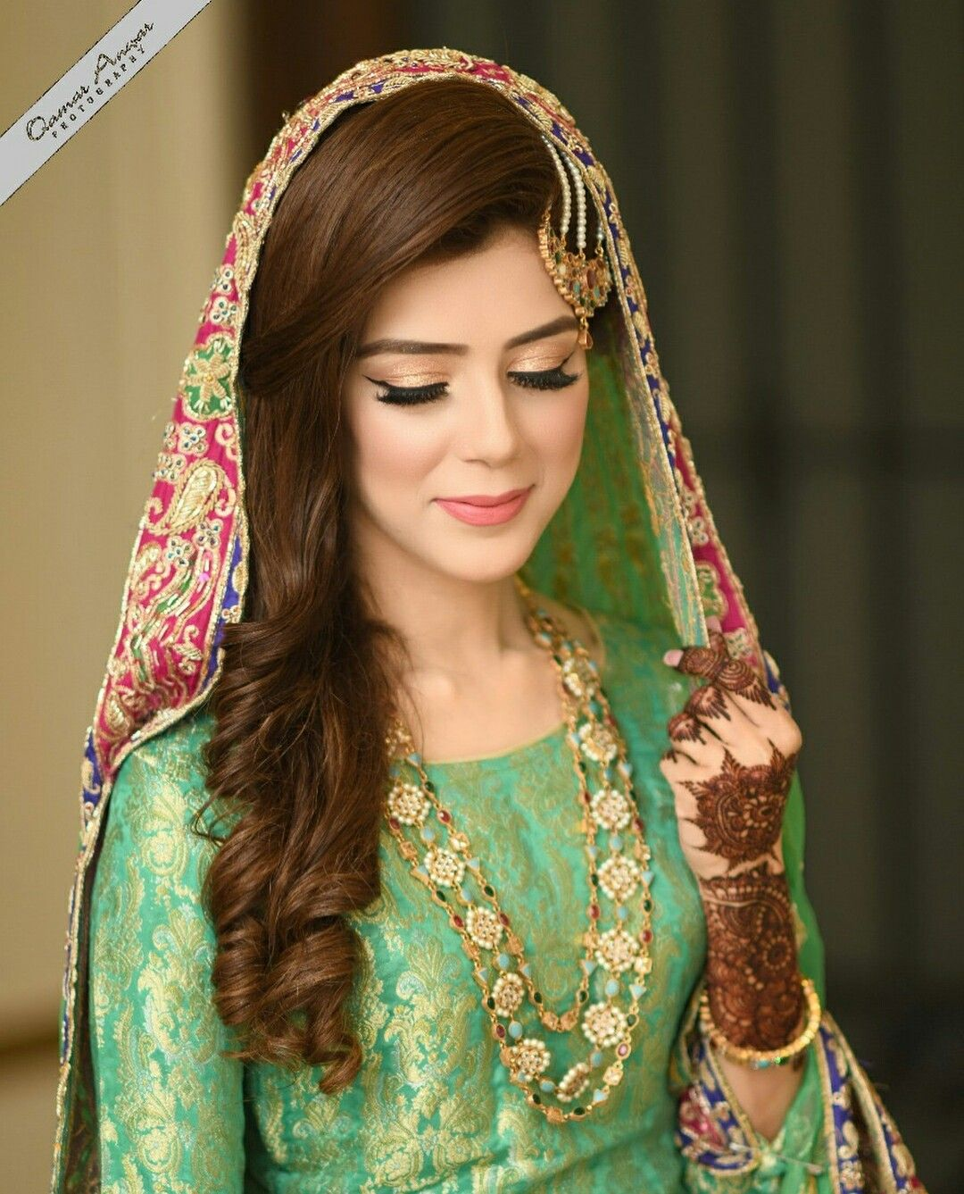 Mehndi makeup ♥❤❤Descent bride pic collection in ✨**Be$t