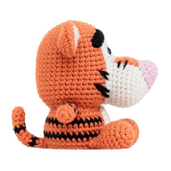 Fat Face Tiger crochet amigurumi pattern. PLEASE NOTE: This listing ...