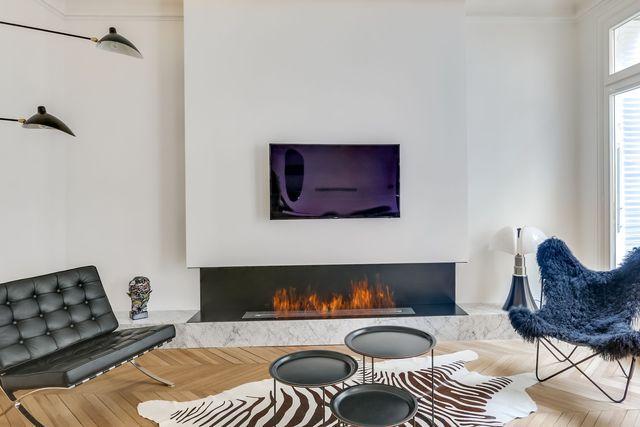 Avant apr s appartement paris 16 design et charme for Salon design chaleureux