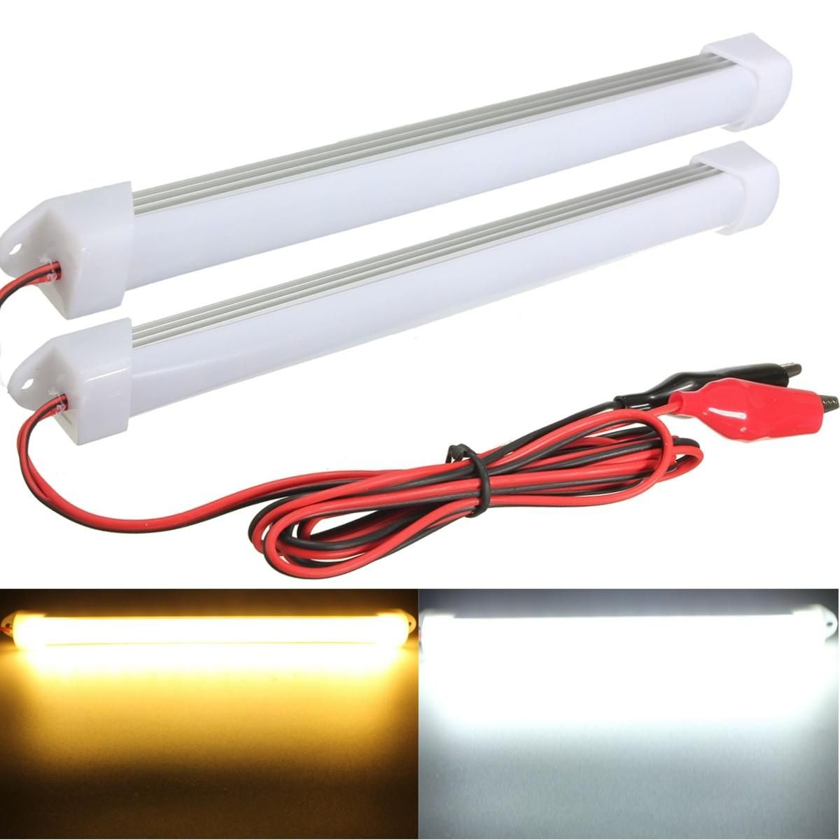 2017 New 2pcs 12v Led Car Interior Light Bar Tube Strip Lamp Van Boat Caravan Motorhome 12 99 Bar Lighting Car Interior Interior Lighting