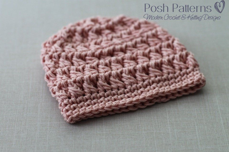Crochet Pattern Crochet Cable Hat Pattern Beanie Cable