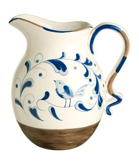 Blue & White Pitcher