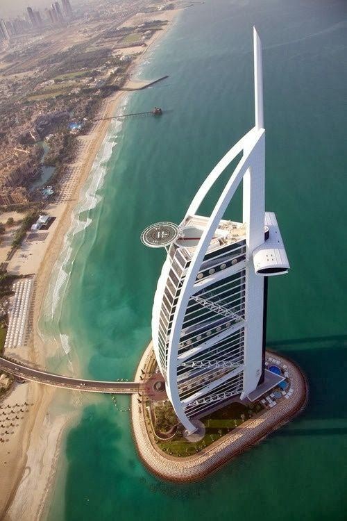 Photo of Name: Burj Al Arab = Tower of the Arabs Location: Dubai Year of construction: 1994-1999 A …