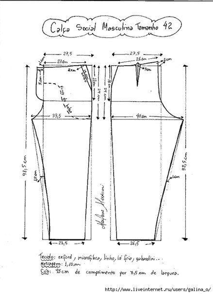 Como hacer un pantalon de vestir para hombre