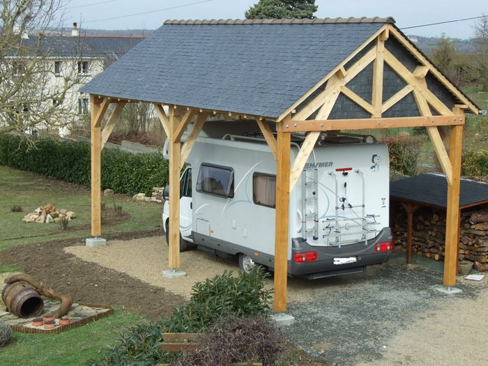 Abri bois 2 pentes Voitures Pinterest Modern carport, Nest and - Montage D Un Garage En Bois