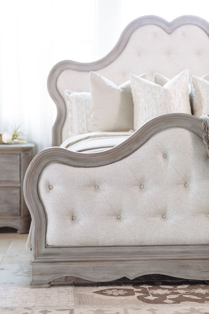 Pulaski Simply Charming Upholstered Bed Small Room Bedroom Bed Upholstered Beds