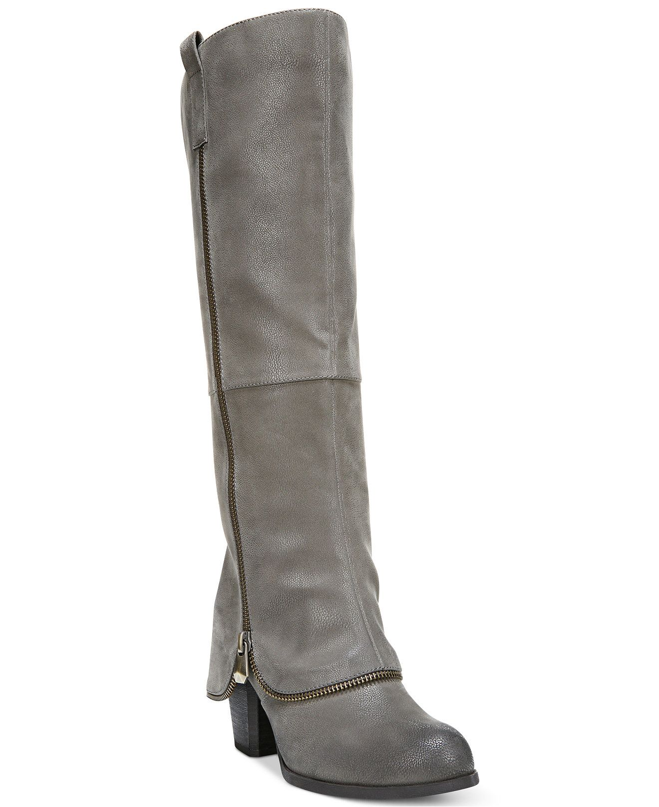 Fergalicious Tune Up Tall Shaft Cuffed Boots - Boots - Shoes - Macy's