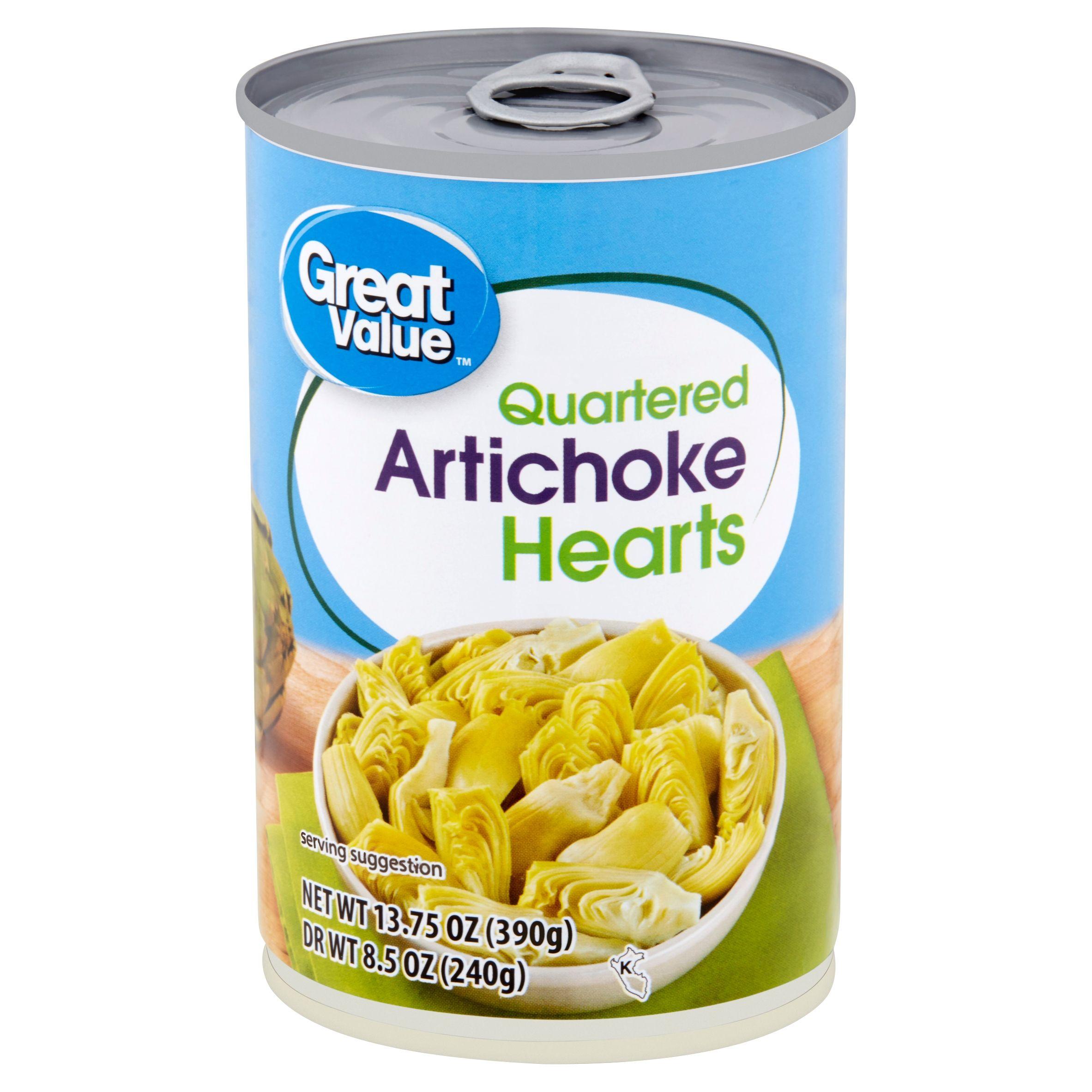 Great Value Quartered Artichoke Hearts, 13.75 oz Walmart