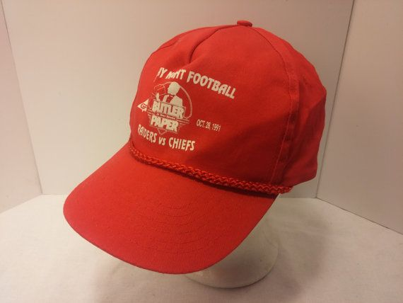 396492192d0 Vintage 1991 Trucker Ball Cap - Monday Night Football Raiders Vs Chiefs -  Souvenir