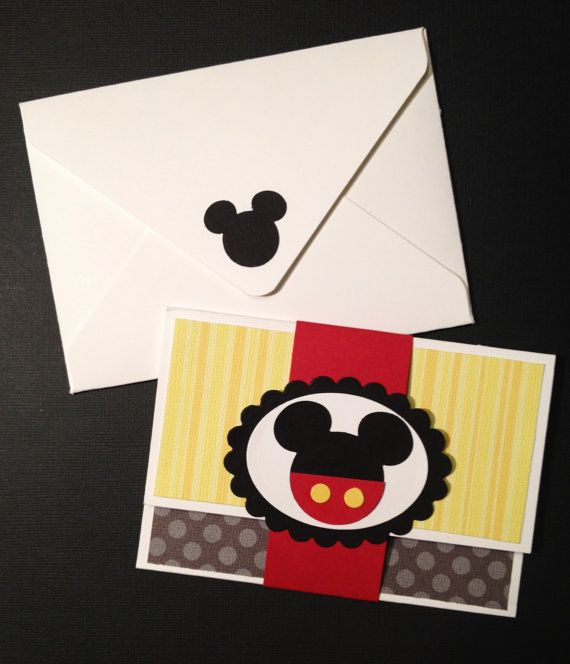 Handmade Disney Mickey Mouse Gift Card Money By YouGotCharacter