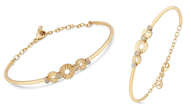 713ebd31f Mia by Tanishq 14KT Yellow Gold and Diamond Bangle for Women ...