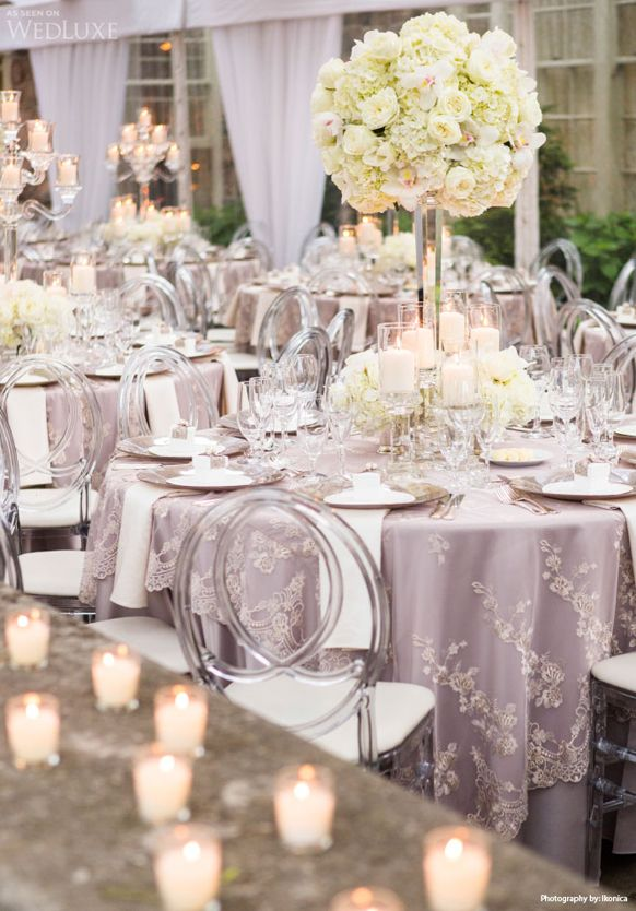 2014 Silver Lavender Wedding Reception Decorations