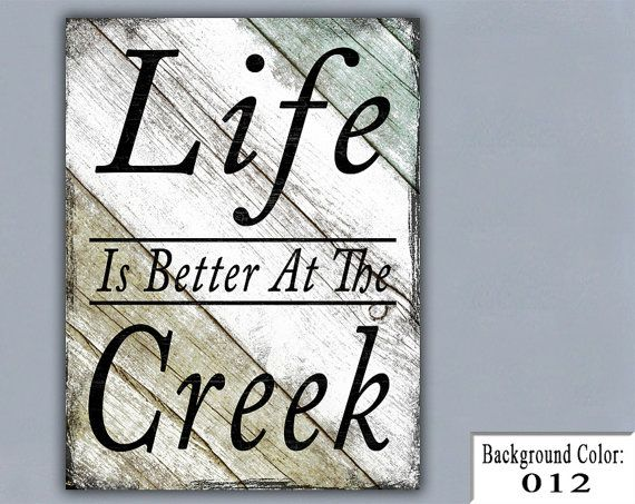 Wooden Signs For Home Decor Enchanting Creek Handmade Sign Wooden Sign Wood Sign Home Decor Wall Design Ideas