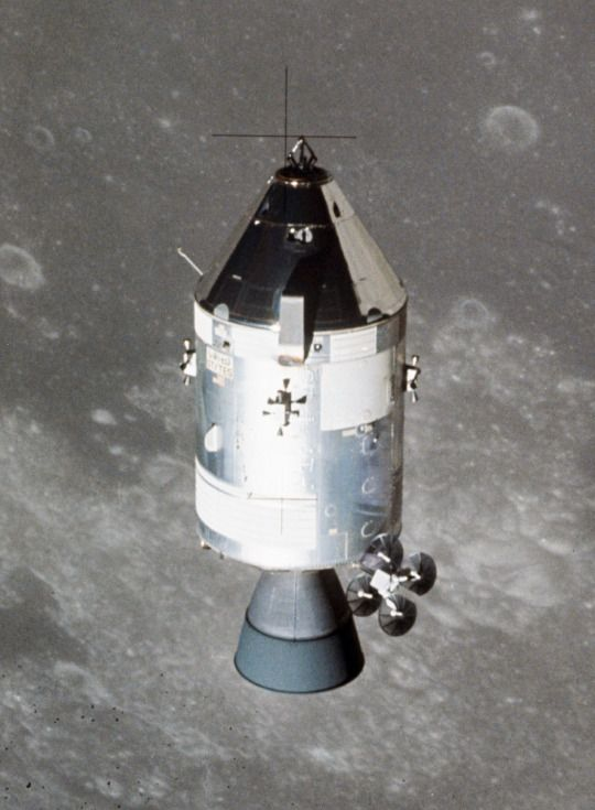 Apollo 15 command module in lunar orbit, July 30, 1971.