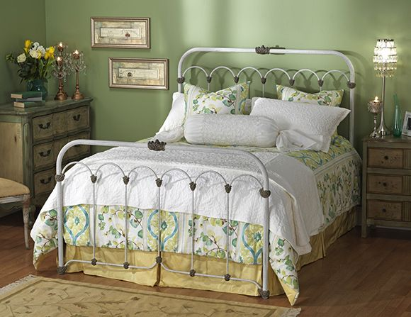 iron bed frames queen with bolster pillows and dresser - White Iron Bed Frame Queen
