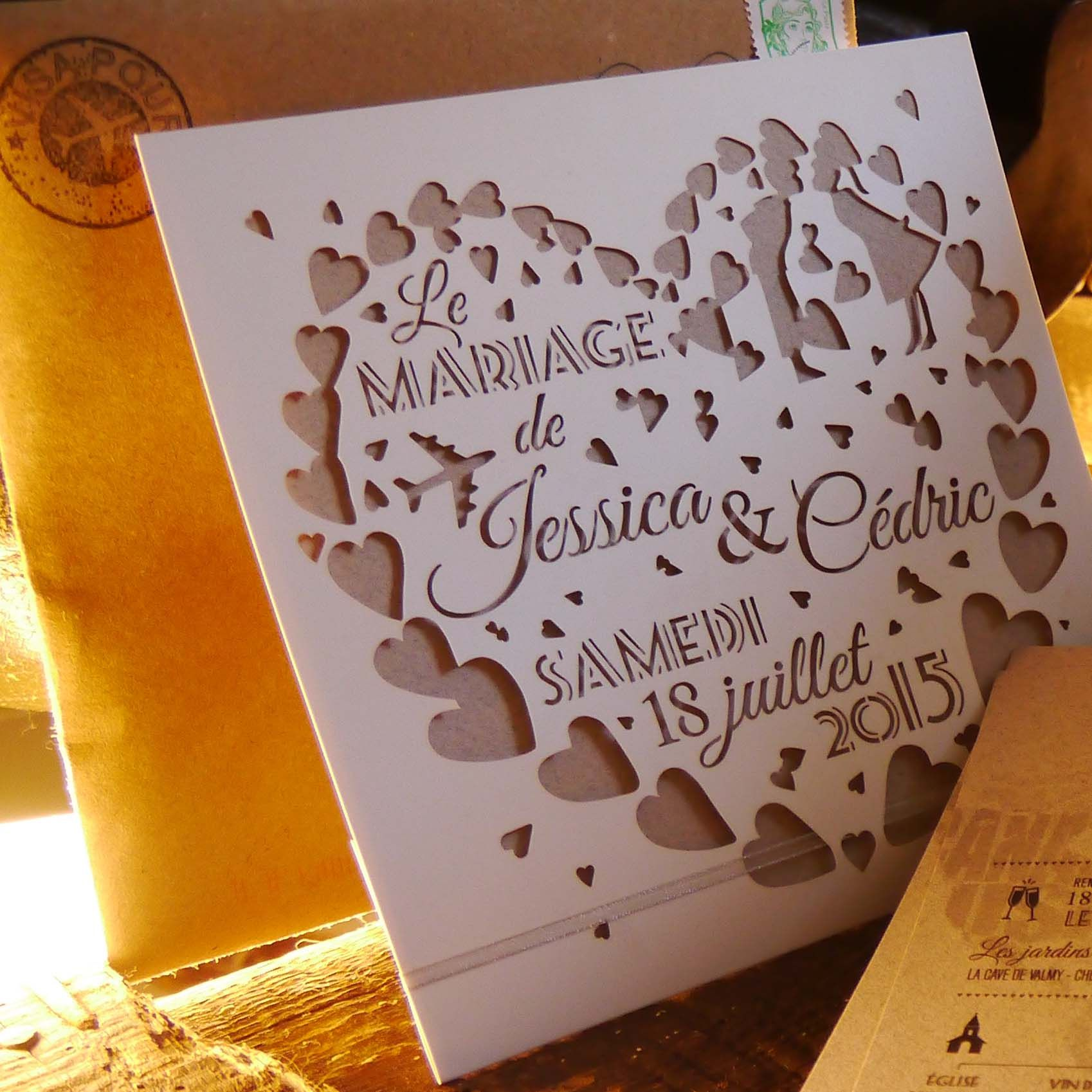faire part d coupe laser papier deco pinterest mariage cnc and blog