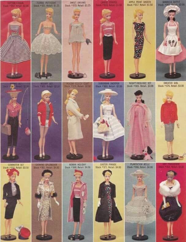 giocattoli anni 50 bambole barbie