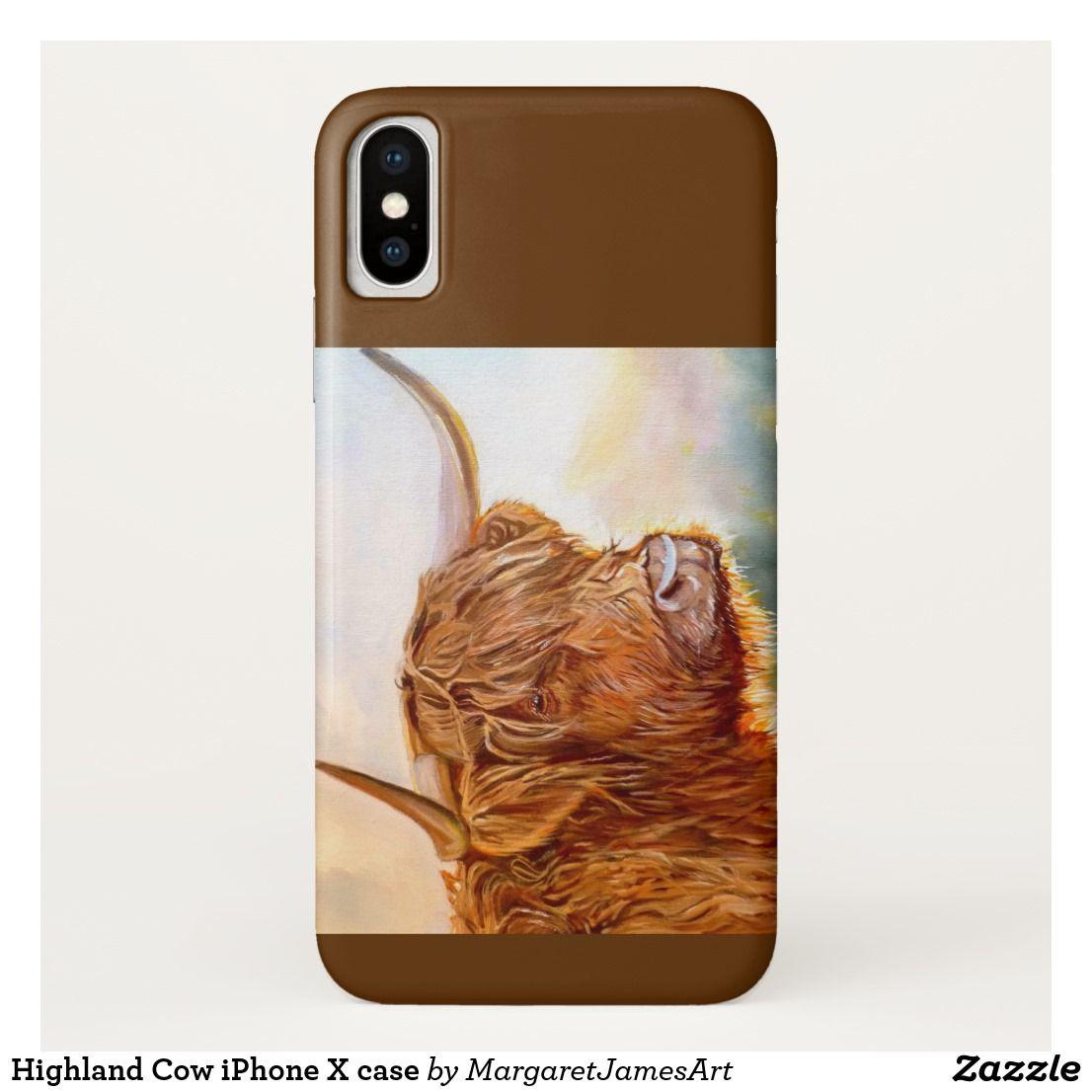 Highland cow iphone x case zazzlecouk iphone