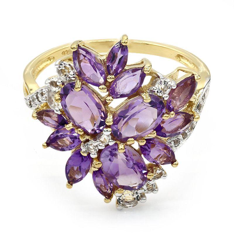 Set magnifique bijoux couleur or argent Pierre de naissance Bague Mariée Mariage Fête G