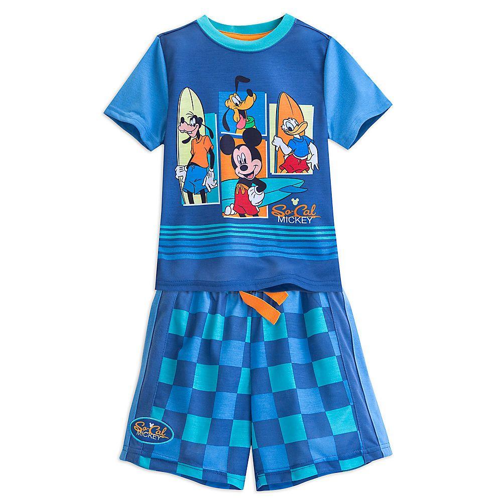 Disney Baby Mickey Mouse Toddler Boys 2 pc Blue Pajama Sets Various Sizes NWT