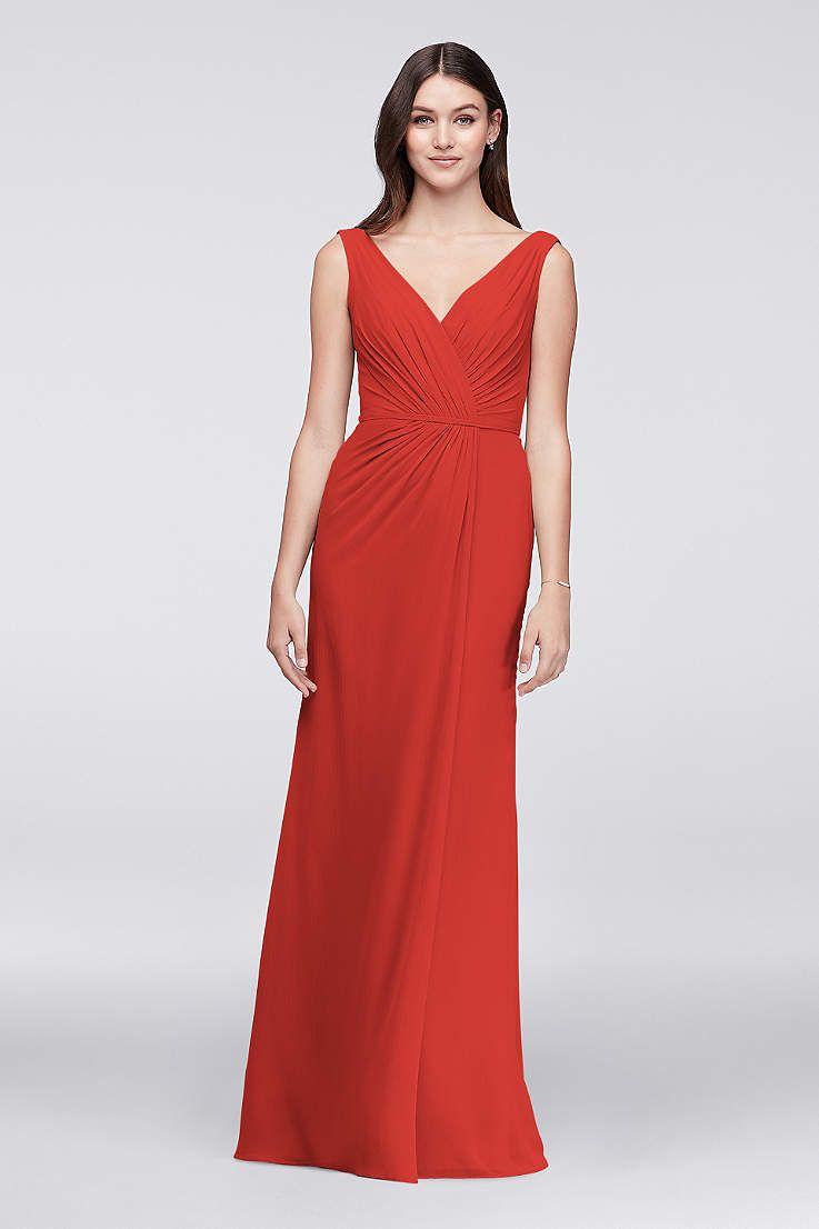 View tank v neck bridesmaid dress at davidus bridal bridesmaid