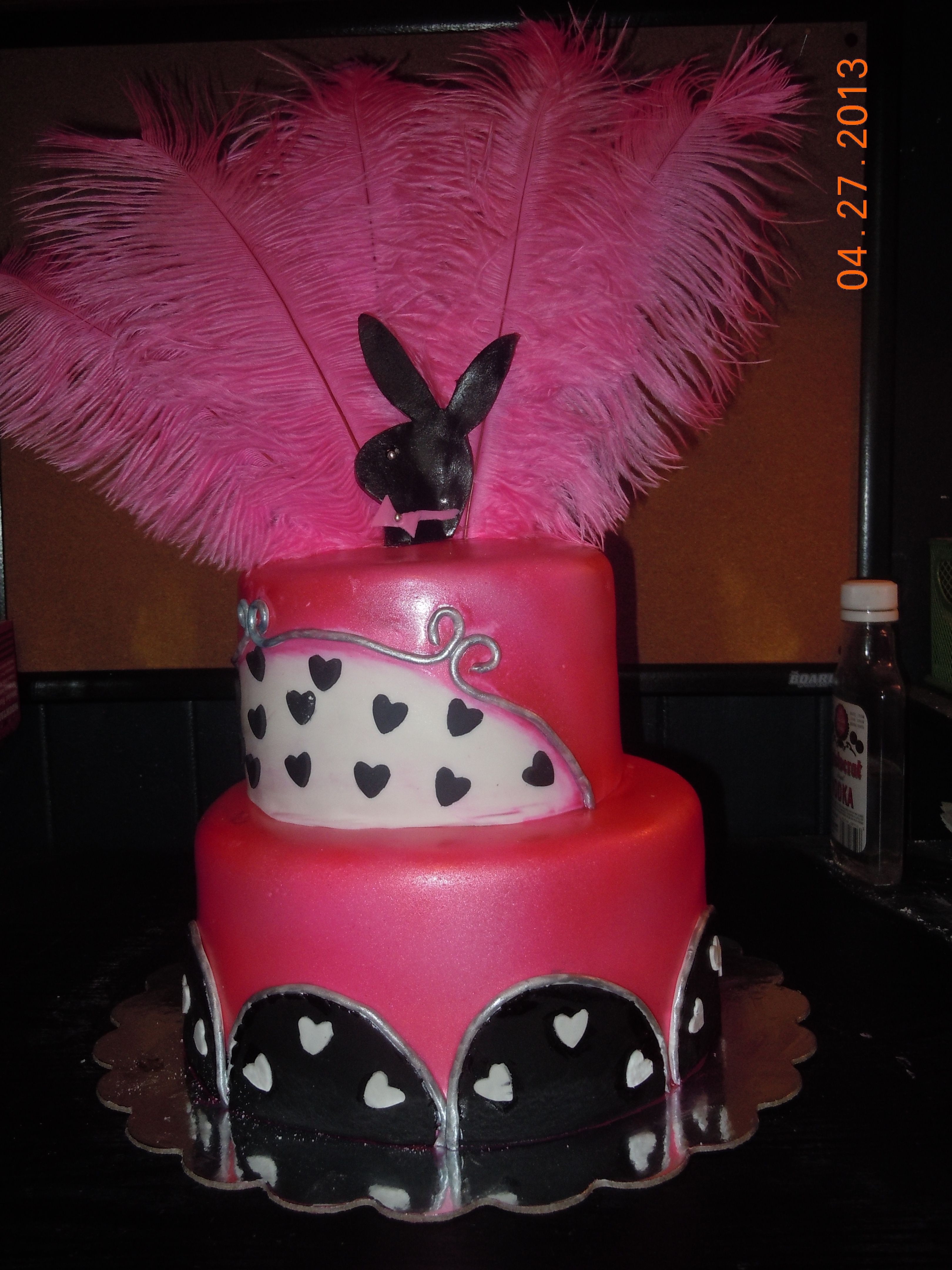 Playboy Cake Design : Playboy Bunny Birthday Cake Greathouse Cakes N Treats ...