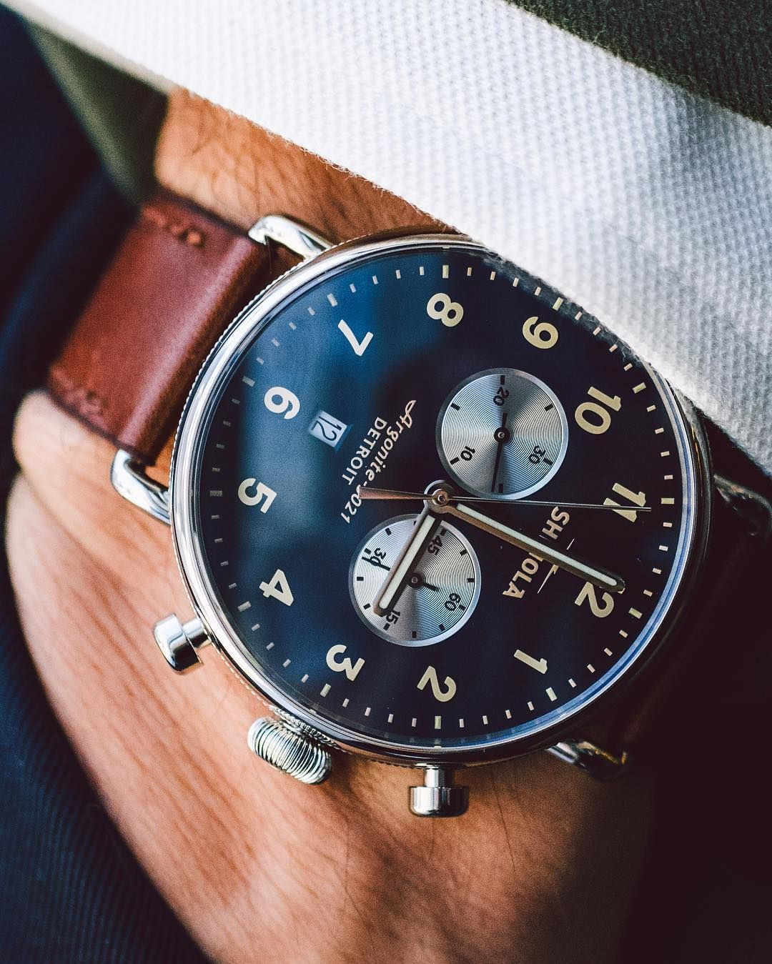 Shinola S Newest Watch Is Perfect For Guys Who Want Something Eye Catching But Not Too Complicated Check Out Mor Watches For Men Timex Watches Latest Watches