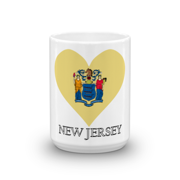New Jersey Heart State Flag Mug State Flags New Jersey Mugs