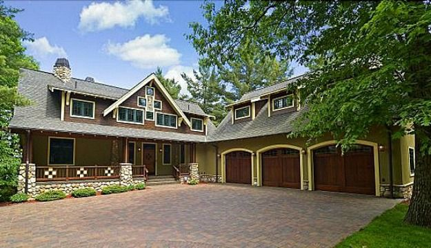 A New Craftsman Style House On Gull Lake In Minnesota Craftsman Style Homes Craftsman House Craftsman Lake House