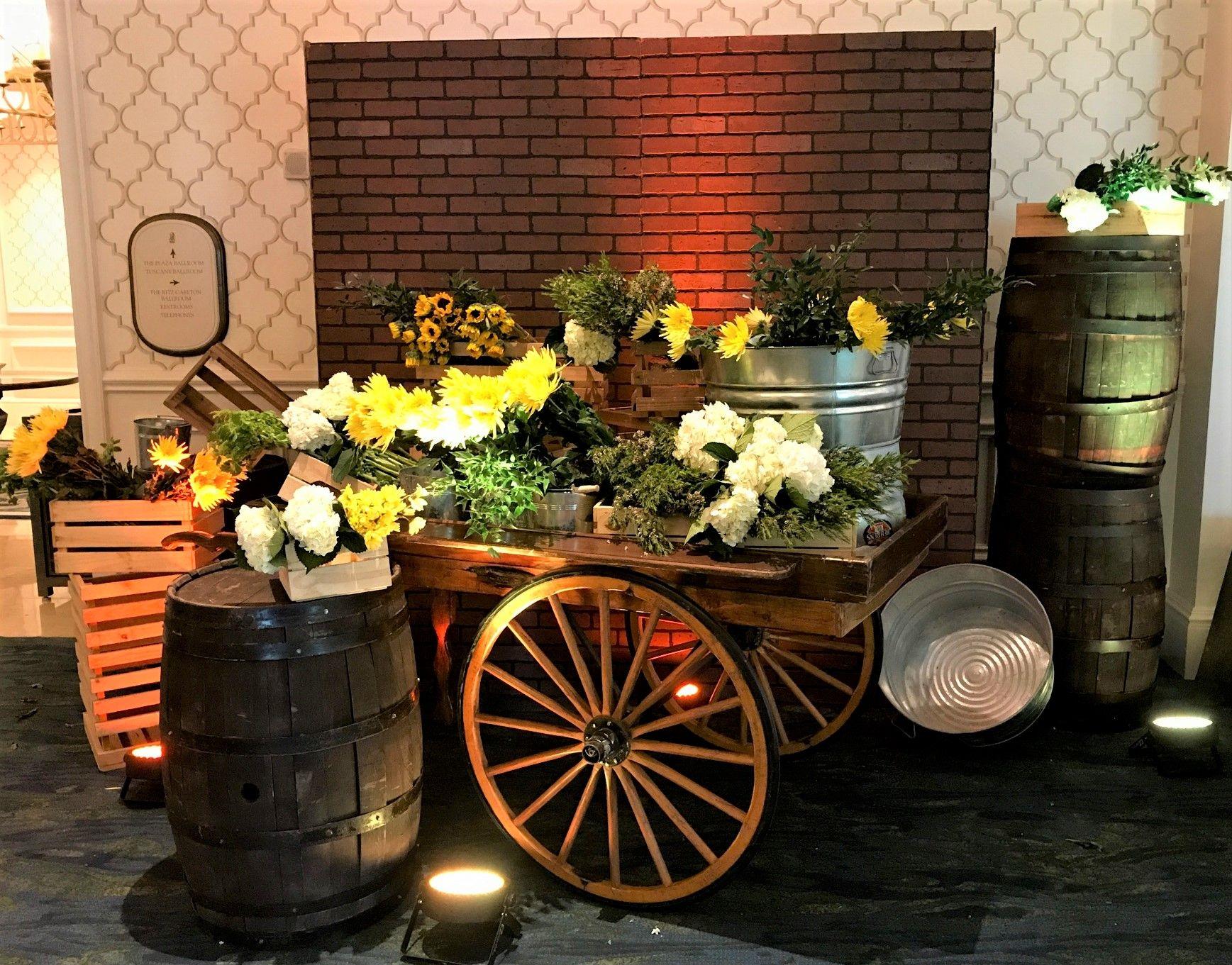 Floral Market Cart | Event Decor | Pinterest | Event decor