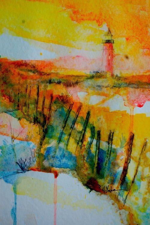"""""""Dunes""""  original watercolor  12""""x9""""  ©copyright 2012 Robert Yonke"""