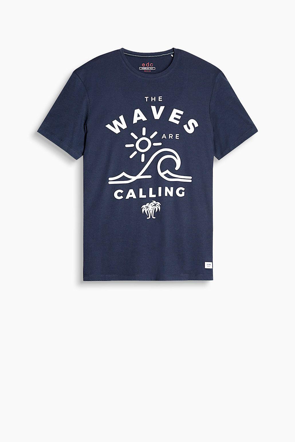 edc - Print-Shirt aus Baumwoll-Jersey im Online Shop kaufen ...