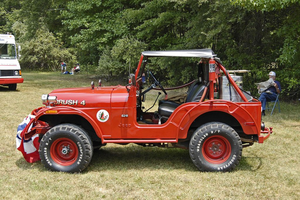 CJ-5 brush truck.
