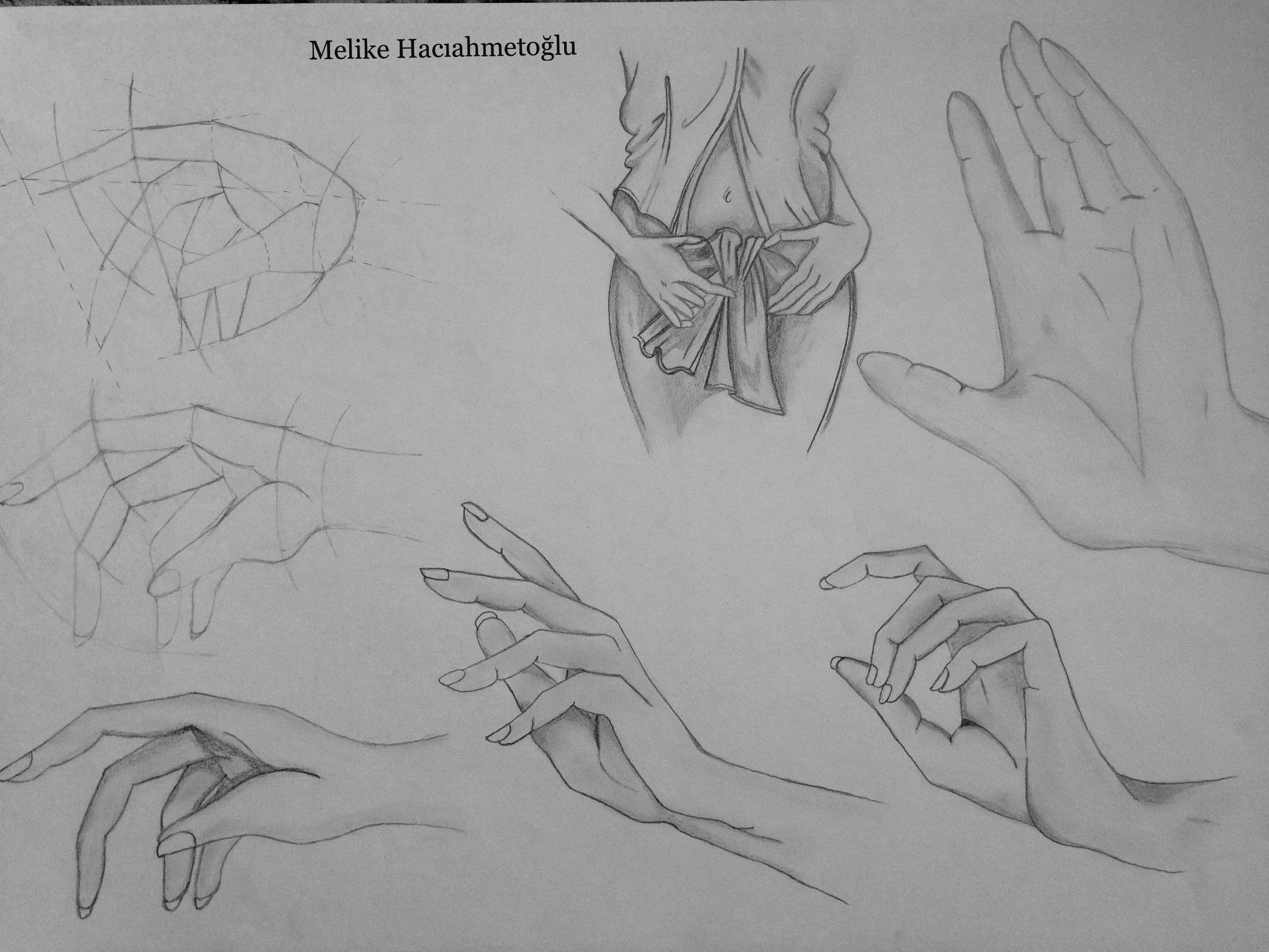 teknik el çizimleri 🤚 artistik Çizim aşamaları teknik el çizimleri 🤚