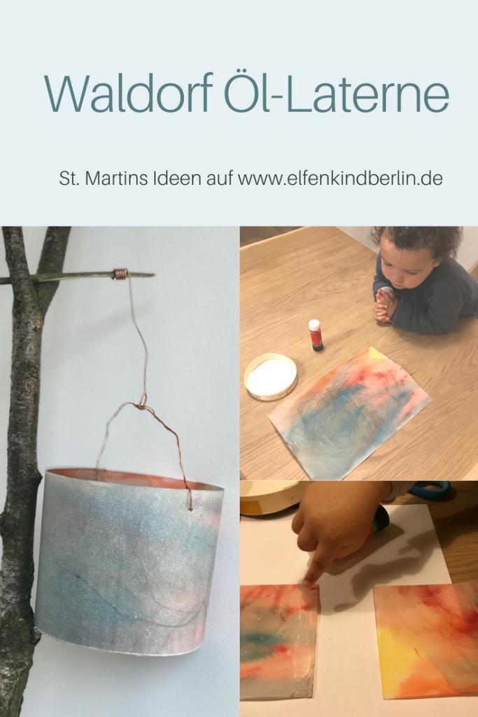 Schnelle Waldorf Laterne aus Öl Papier, Anleitung Aqurell Laterne #laternekleinkind