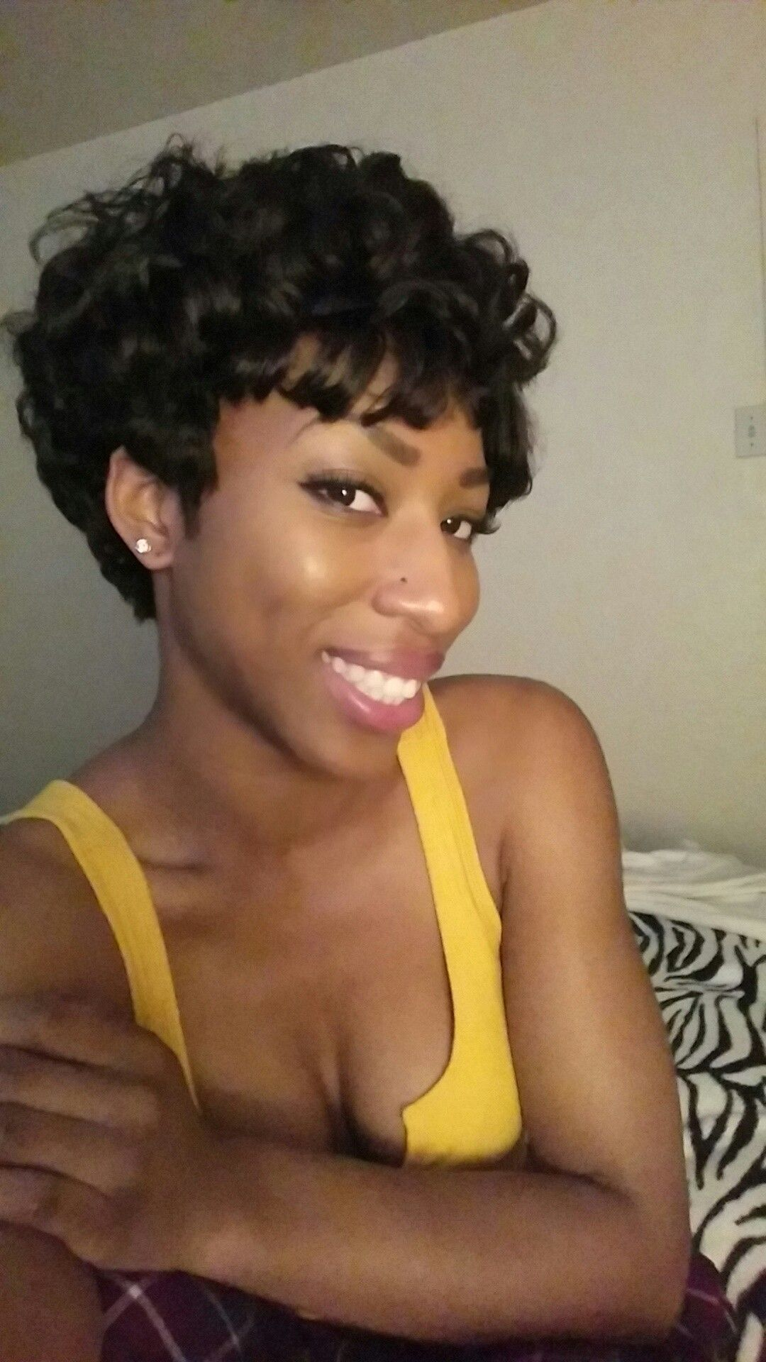 Custom made short hair wig. This was a wig that i handmade