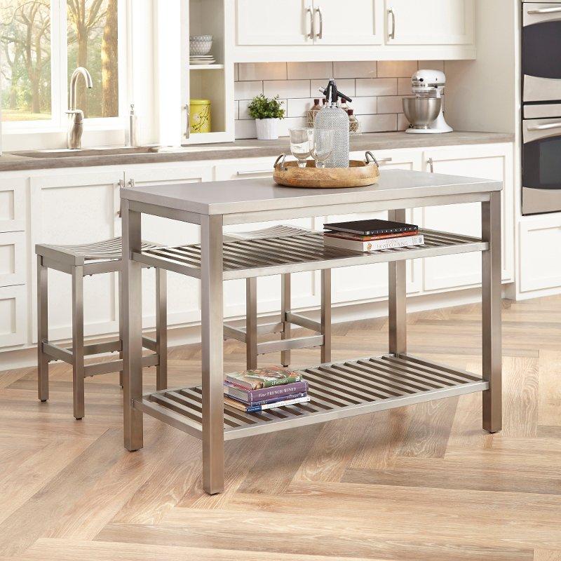 Stainless Steel Kitchen Island Set Kitchen Island Bar Modern
