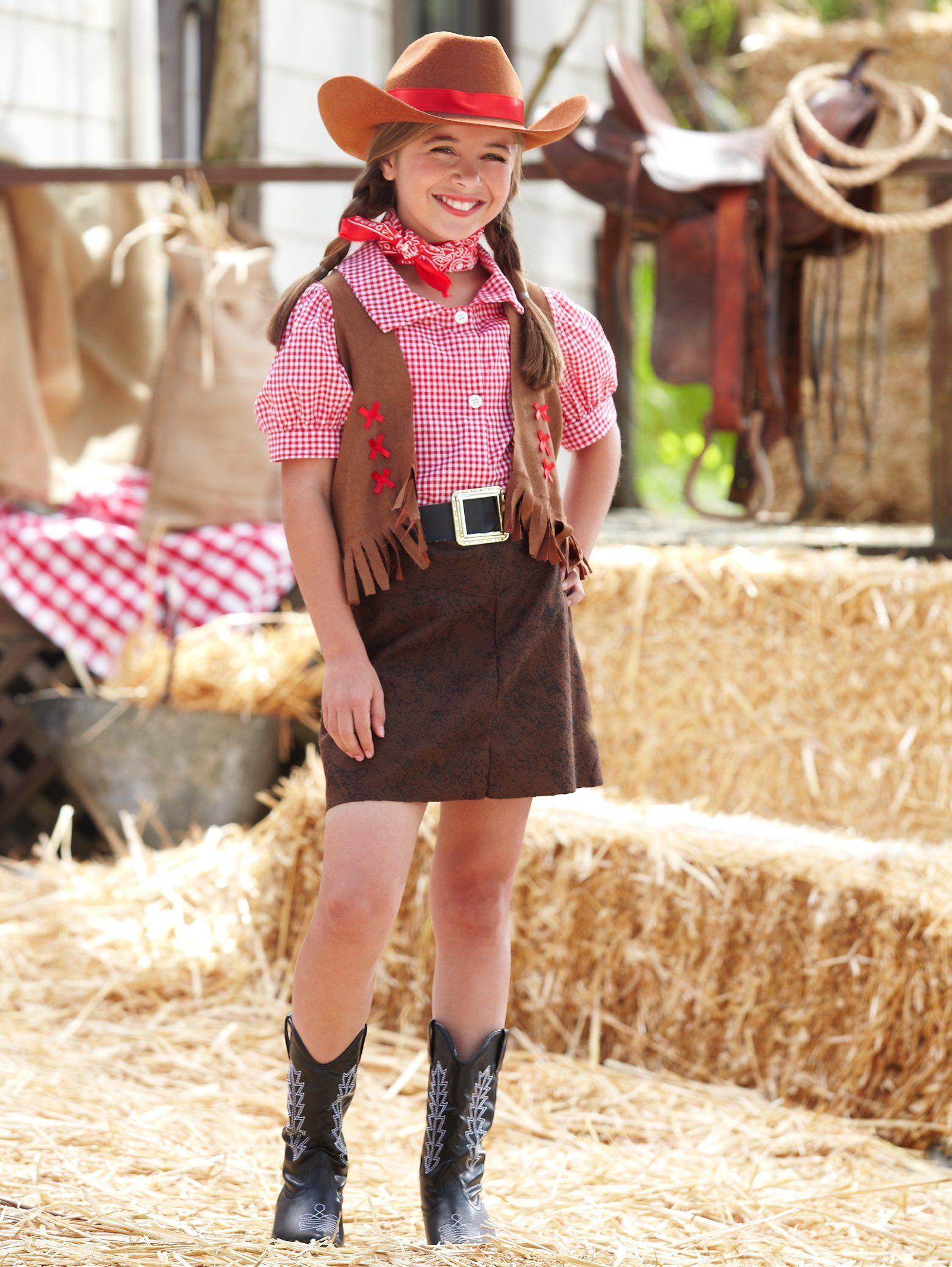 Gunslinger Girl Kids Costume | Cowgirl