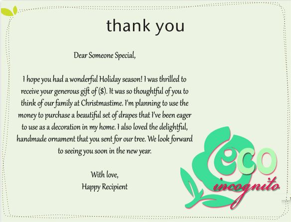 How To Write The Perfect Thank You Note  Letter Sample Christmas