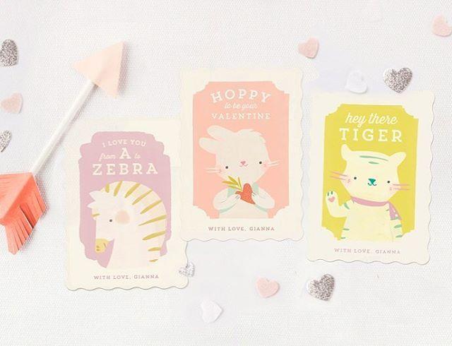 Happy Valentine's weekend!! ❤️ #minted #valentine #card #classroom #artprint #children #kids #fun #playful #zebra #bunny #tiger #cute