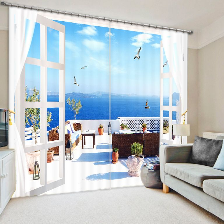 Move The House To The Sea Bedroom Living Room Kitchen Home Textile