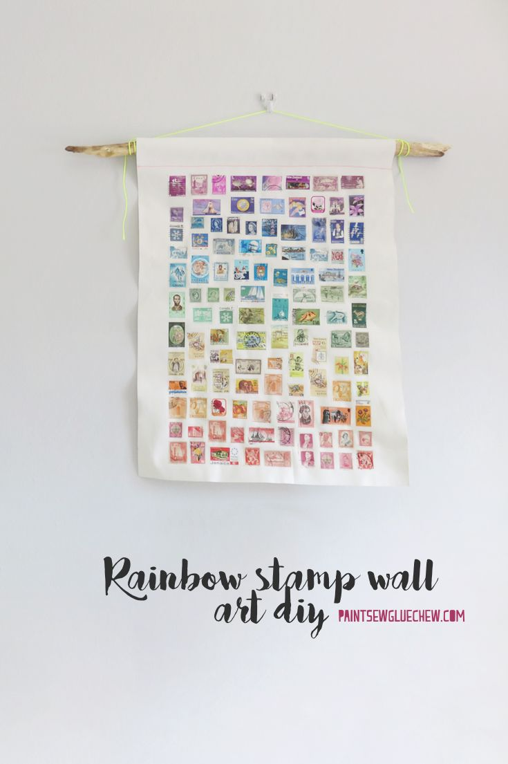 Rainbow stamp wall art diy craft ideas pinterest craft