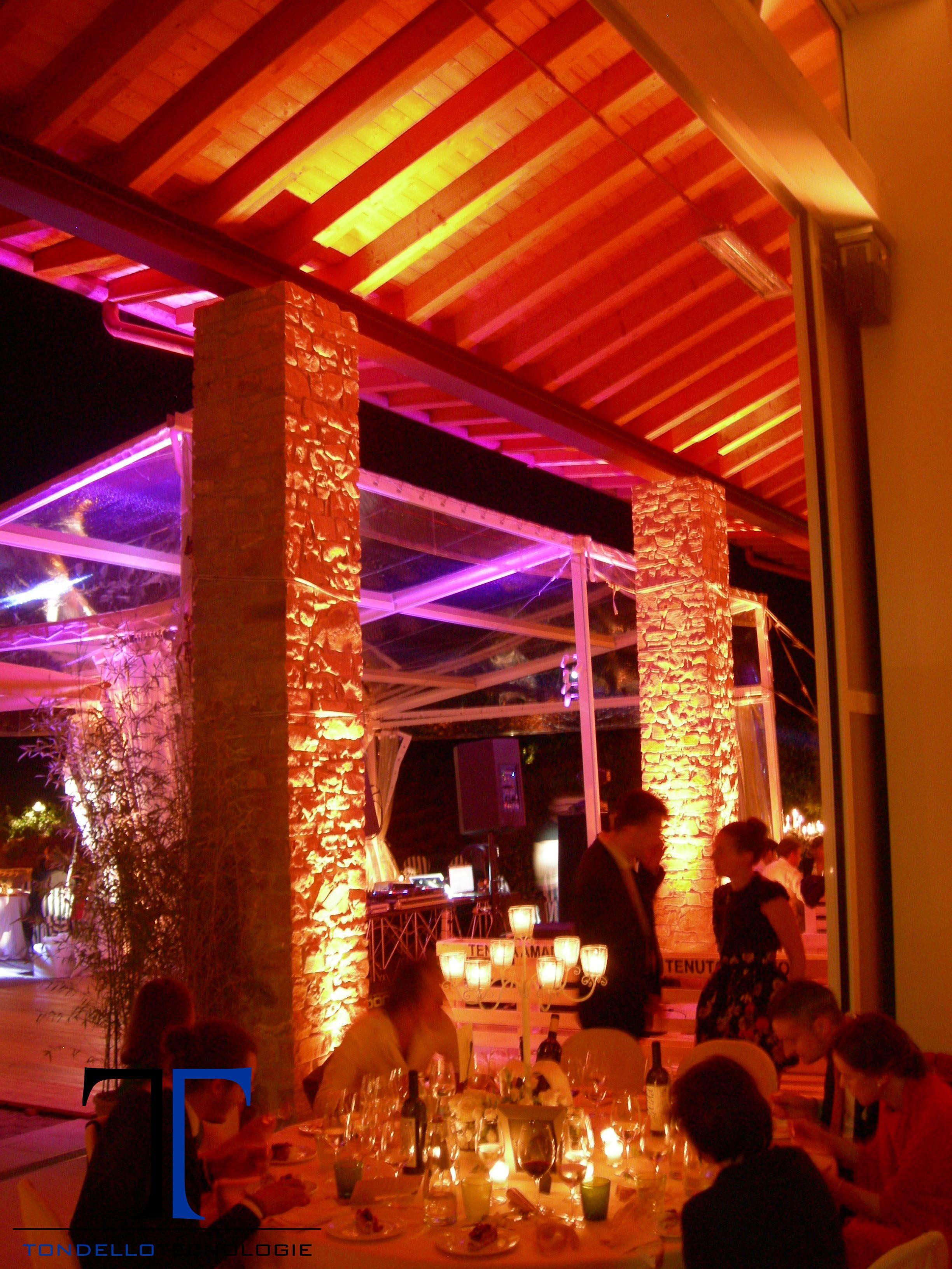 Matrimonio luci architetturali arredi design impianto for Luci arredo