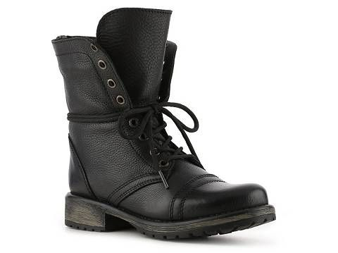 cb51967cd1f Steve Madden Fame Combat Boot leather black